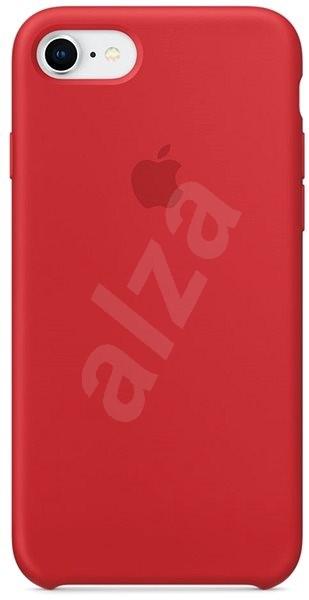 iPhone 8/7 Silikonový kryt červený - Kryt na mobil
