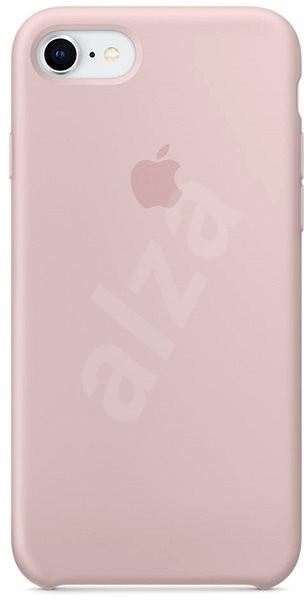 iPhone 8 7 Silikonový kryt pískově růžový - Kryt na mobil 610edf073ab