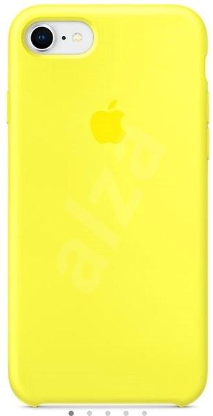 iPhone 8 7 Silikonový kryt zářivě žlutý - Ochranný kryt  6ca1067a5f3