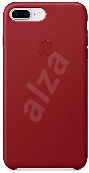 iPhone 8 Plus/7 Plus Kožený kryt červený - Kryt na mobil