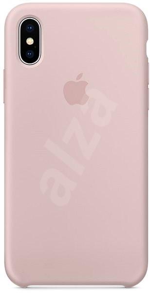 iPhone X Silikonový kryt pískově růžový - Kryt na mobil  ce3ae220aa7