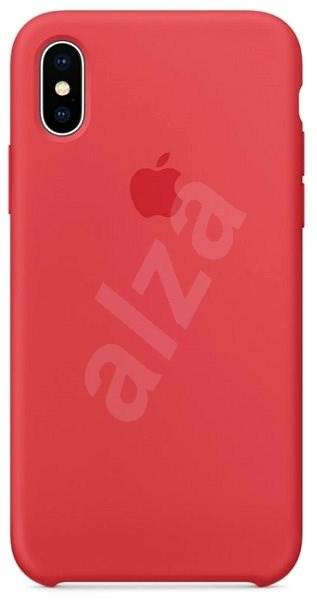 iPhone X Silikonový kryt malinově červený - Ochranný kryt  f1bb2daf7f9