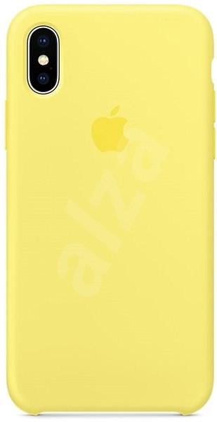 iPhone X Silikonový kryt citrónově žlutý - Ochranný kryt  906753045e2