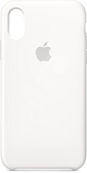 iPhone XS Silikonový kryt bílý - Kryt na mobil