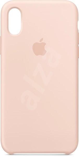iPhone XS Silikonový kryt pískově růžový - Kryt na mobil