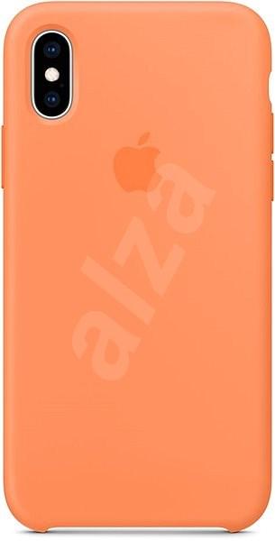 iPhone XS Silikonový kryt papájový - Kryt na mobil