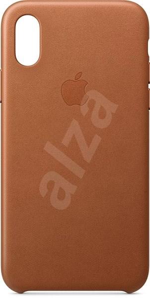 iPhone XS Kožený kryt sedlově hnědý - Kryt na mobil