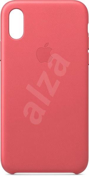 iPhone XS Kožený kryt pivoňkově růžový - Kryt na mobil  a31a1b71250