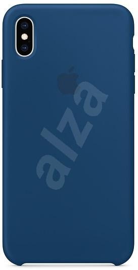 iPhone XS Max Silikonový kryt podvečerně modrý - Kryt na mobil