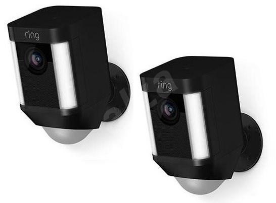Ring Spotlight Cam Battery Black Duo pack - IP kamera
