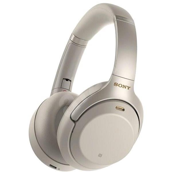 Sony Hi-Res WH-1000XM3, platinově stříbrná, model 2018 - Bezdrátová sluchátka