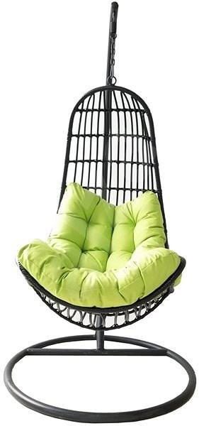 ROJAPLAST Závěsné křeslo OREGON černá/zelená - Zahradní houpačka