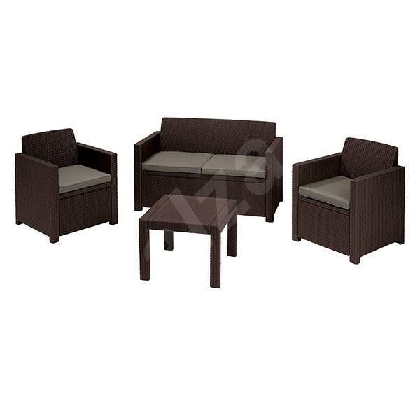ALLIBERT ALABAMA Set brown - Garden furniture