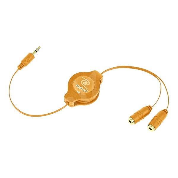 RETRAK audio sluchátkový rozbočovač 0.9m oranžový - Audio kabel