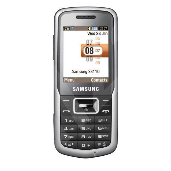 Samsung GT-S3110 stříbrný - Mobilní telefon
