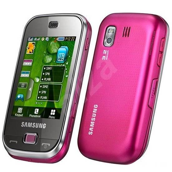 Samsung B5722 Pink - Mobilní telefon