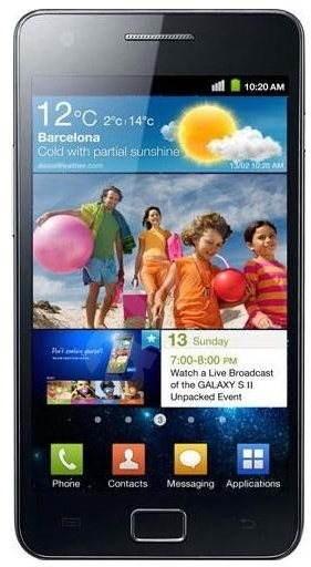 Samsung Galaxy S2 (i9100) Noble Black - Mobilní telefon