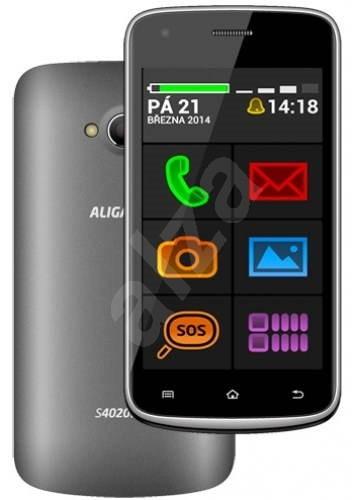 Aligator S4020 Senior Grey Dual SIM - Mobilní telefon