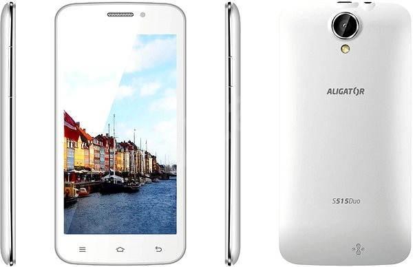 Aligator S515 Duo White - Mobilní telefon