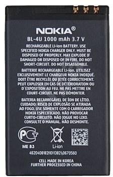 Nokia BL-4U Li-Ion 1000 mAh bulk - Baterie pro mobilní telefon