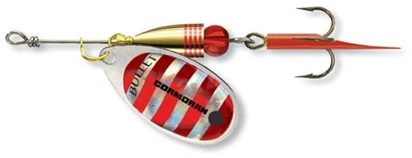 Cormoran Bullet Spinner Velikost 2 4g Silver/Red Stripes - Třpytka