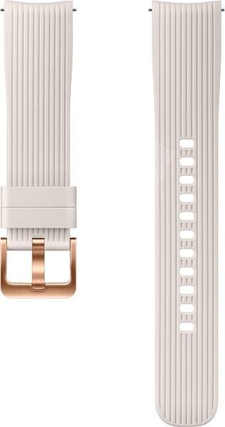 Samsung Galaxy Watch Silicone Band 20mm Stříbrná - Řemínek