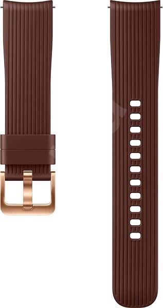 Samsung Galaxy Watch Silicone Band 20mm Hnědá - Řemínek