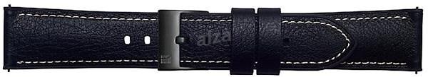 Samsung Galaxy Watch Braloba strap Rubber/Leather 22mm - Urban Traveller Černá - Řemínek