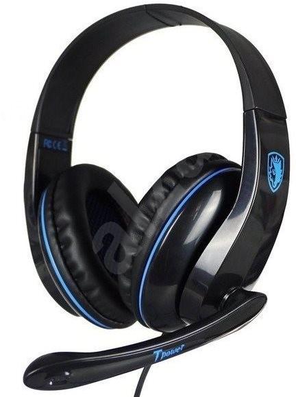 Sades T-Power černá/modrá - Herní sluchátka