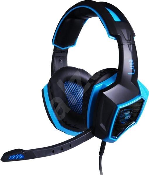 Sades Luna černá/modrá - Herní sluchátka
