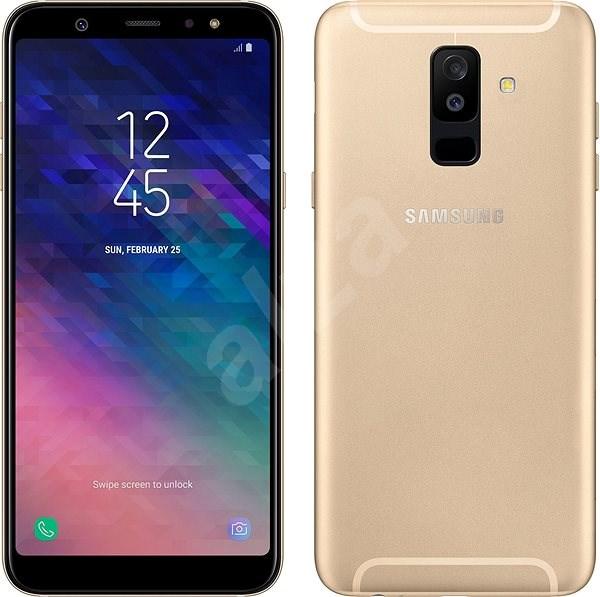 Samsung Galaxy A6+ zlatý - Mobilní telefon