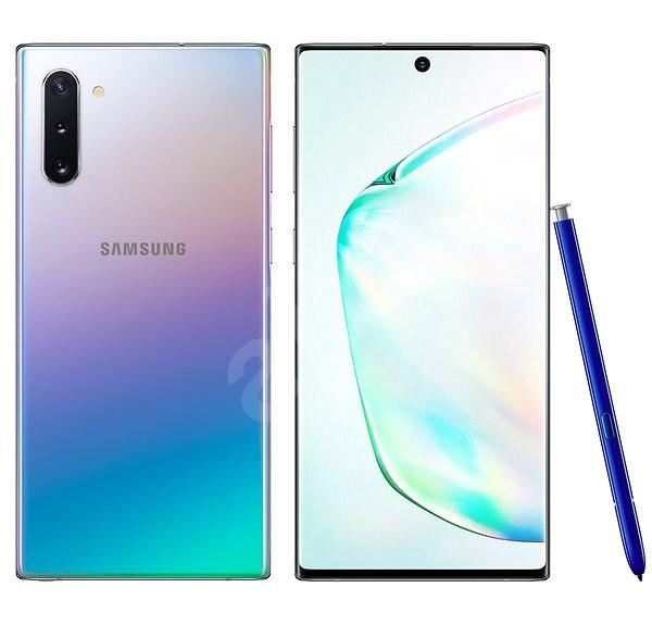 Samsung Galaxy Note 10 Dual SIM gradientní stříbrná - Mobilní telefon