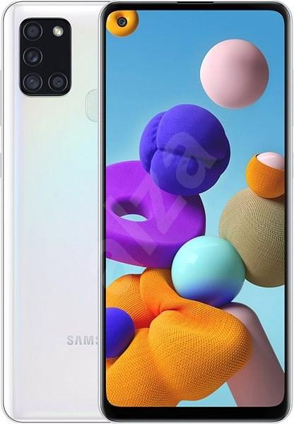Samsung Galaxy A21s 32GB bílá - Mobilní telefon