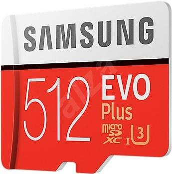 Samsung MicroSDXC 512GB EVO Plus UHS-I U3 + SD adaptér - Paměťová karta