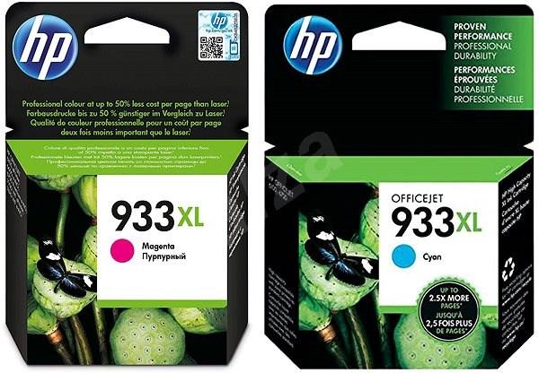 HP CN054AE + HP CN055AE č. 933XL azurová + purpurová - Cartridge