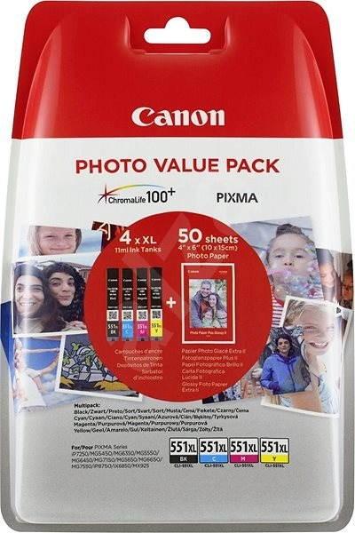 Canon XL CLI-551 C/M/Y/BK PHOTO VALUE  Multi Pack - Cartridge
