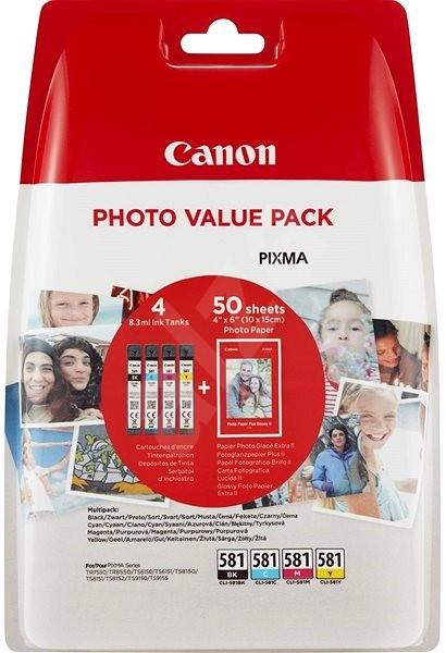 Canon CLI-581 XL Multipack + fotopapír PP-201 - Cartridge