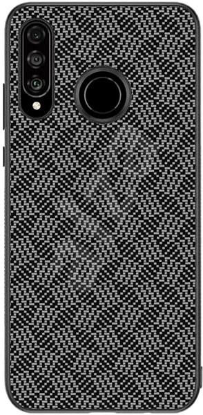 Nillkin Synthetic Fiber Plaid pro Huawei P30 Lite Black - Kryt na mobil
