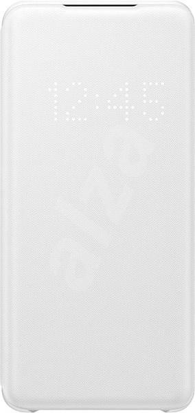 Samsung  Flipové pouzdro LED View pro Galaxy S20 bílé - Pouzdro na mobilní telefon