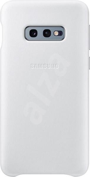 Samsung Galaxy S10e Leather Cover bílý - Kryt na mobil