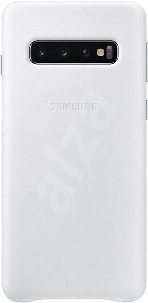 Samsung Galaxy S10 Leather Cover bílý - Kryt na mobil