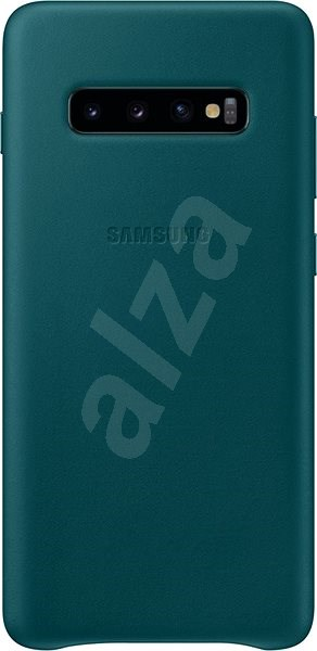 Samsung Galaxy S10+ Leather Cover zelený - Kryt na mobil