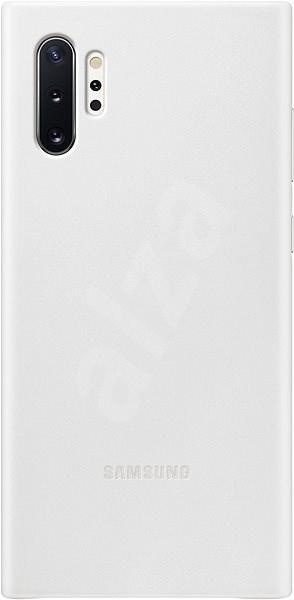 Samsung Kožený zadní kryt pro Galaxy Note10+ bílý - Kryt na mobil