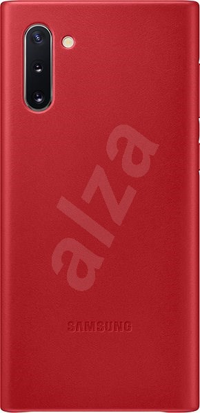 Samsung Kožený zadní kryt pro Galaxy Note10 červený - Kryt na mobil