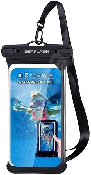 """Seaflash voděodolné TPU pouzdro pro smartphony do 6.5"""" černé - Pouzdro na mobil"""