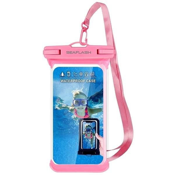 """Seaflash voděodolné TPU pouzdro pro smartphony do 6.5"""" růžové - Pouzdro na mobil"""