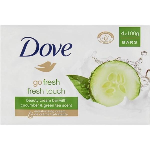 DOVE Go Fresh Cucumber & Green Tea Bar Soap 4× 100 g - Tuhé mýdlo