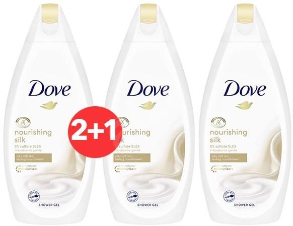 DOVE Nourishing Silk Shower Gel 500 ml 2+1 - Sprchový gel