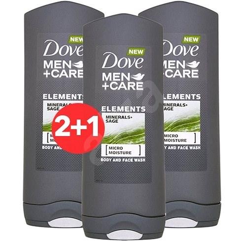 DOVE Men+Care Minerals & Sage 400 ml 2+1 - Pánský sprchový gel