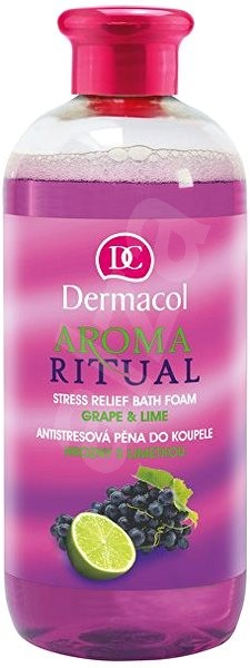 DERMACOL Aroma Ritual Grape & Lime Stress Relief Bath Foam 500 ml - Pěna do koupele